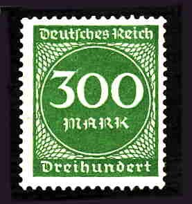 German MNH Scott #231 Catalog Value $.45