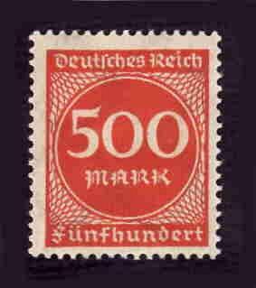 German MNH Scott #233 Catalog Value $.45