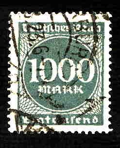 German Used Scott #234 Catalog Value $1.50