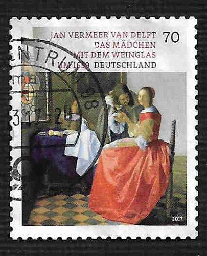 German Used Scott #2950 Catalog Value $.75