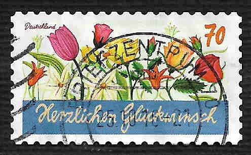 German Used Scott #2921 Catalog Value $.80