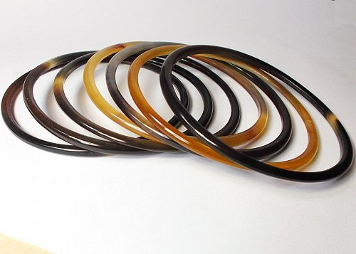 Set Of 7 Horn Bangle Bracelet Buffalo Jewelry Kai
