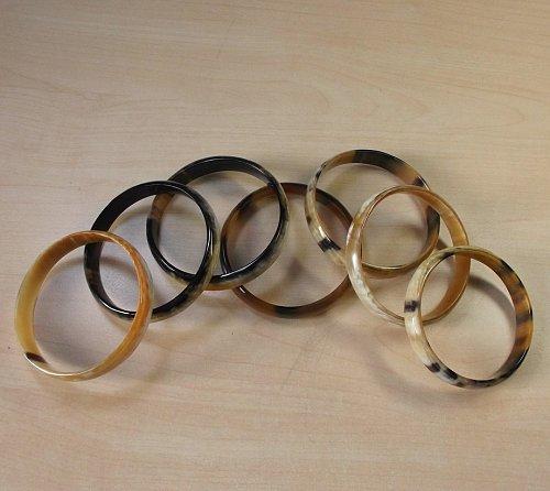 Set of 7 bracelets - Buffalo horn bangle bracelet - Horn jewelry - KAI-3716