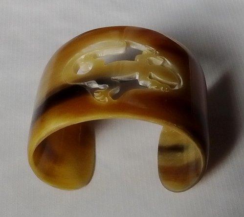 Horn bracelet - Buffalo horn bracelet - Horn bangle bracelet - KAI-3712