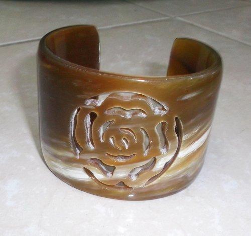 Horn bracelet - horn jewelry - Horn bangle bracelet - KAI-3726