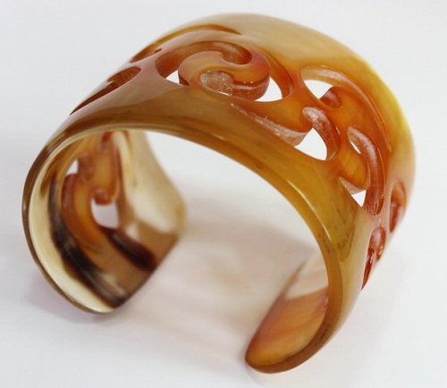 Horn bracelet - Buffalo horn jewelry - Horn cuff - KAI-3709