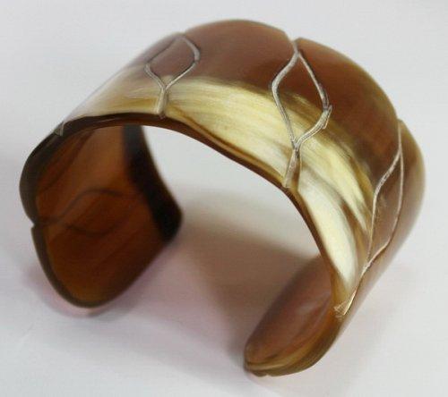 Horn bracelet - Buffalo horn jewelry - natural horn jewelry - KAI-3708