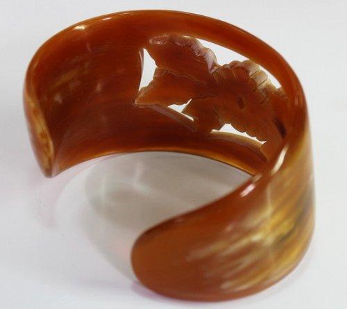 Horn bracelet - Buffalo horn jewelry - Horn cuff - KAI-3707