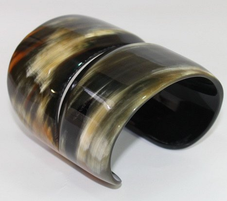 Buffalo horn bracelet - horn jewelry - KAI-3705