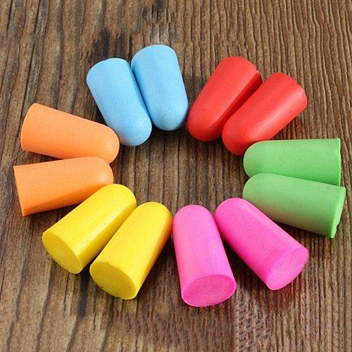 Soft Foam Ear Plugs Travel Sleep Noise Prevention Earplugs Noise Reduction For Travel