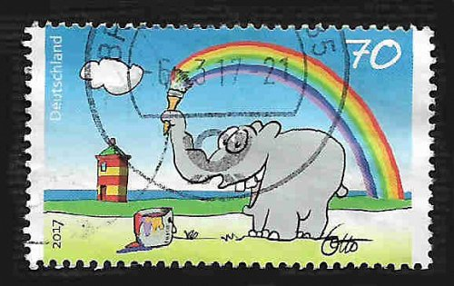 German Used Scott #2956 Catalog Value $.75