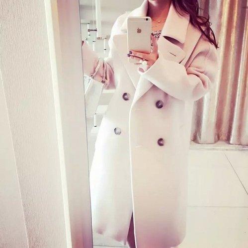 women woolen long coat