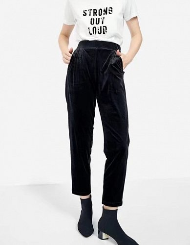 women velvet pants