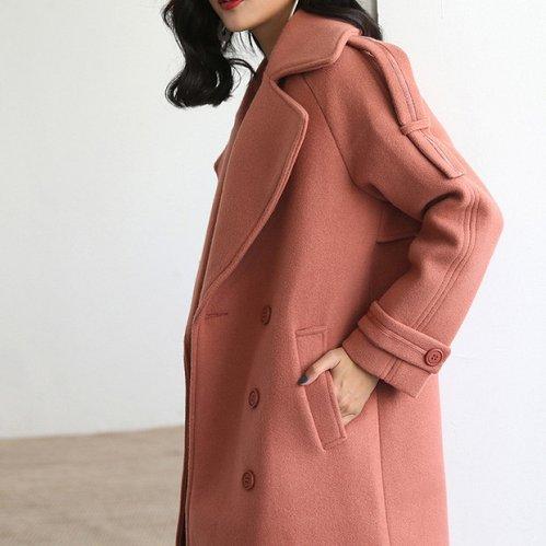 women wool long jacket