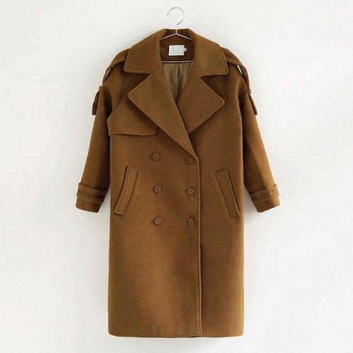 women wool long coat