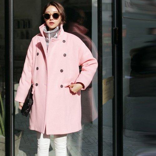 women wool long coat 2 colors choose