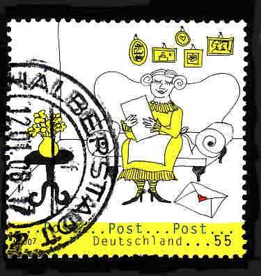 German Used Scott #2455 Catalog Value $.80