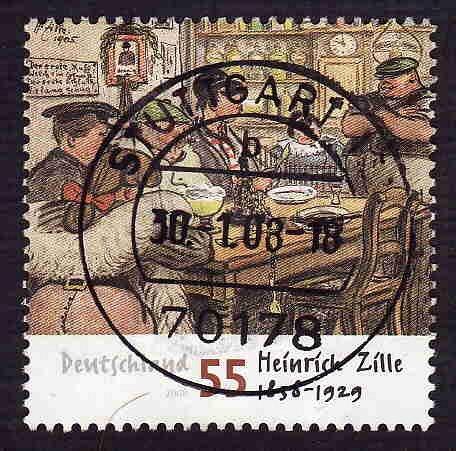 German Used Scott #2467 Catalog Value $.80