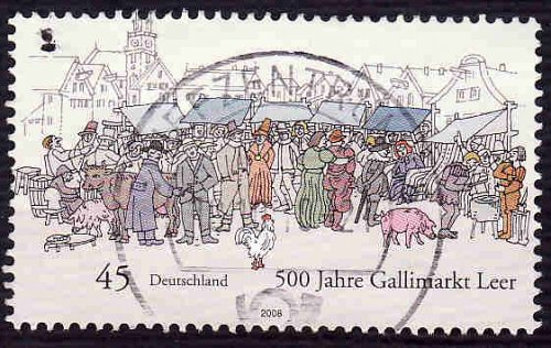 German Used Scott #2504 Catalog Value $.60