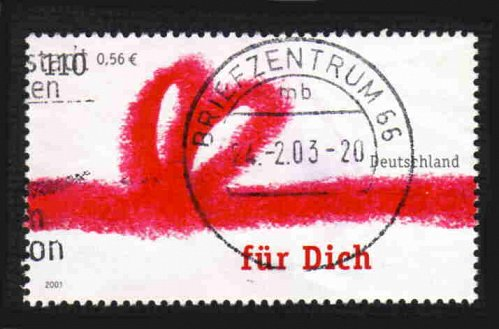 German Used Scott #2141 Catalog Value $.75
