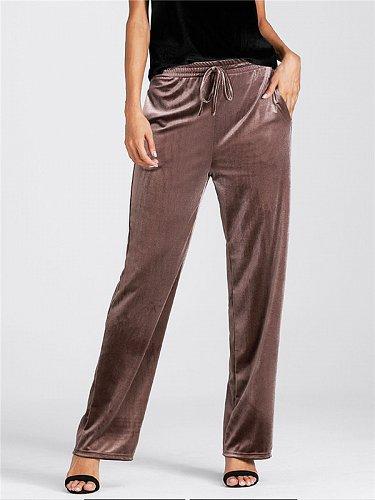 women velvet long pants