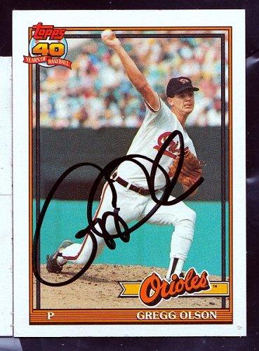 Gregg Olson, RHP, Orioles, Topps Trading Card 10