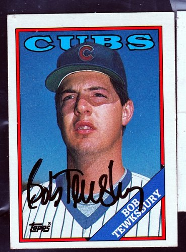 Bob Tewksbury, RHP, Cubs, Topps Trading Card 10