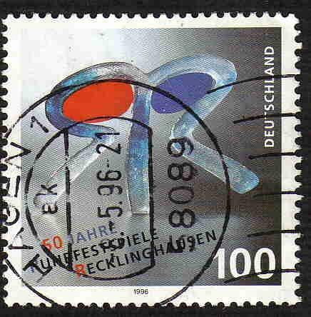 German Used Scott #1930 Catalog Value $.70