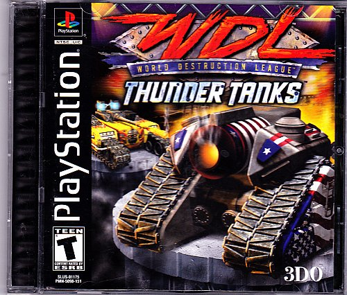 World Destruction League - Thunder Tanks Sony PlayStation - COMPLETE - Very Good