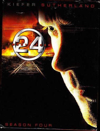 24 - Complete 4th Season DVD 2005, 7-Disc Set - Very Good