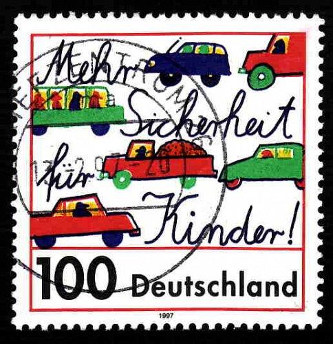 German Used Scott #1954 Catalog Value $.70