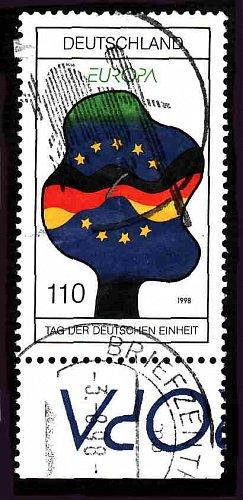 German Used Scott #2004 Catalog Value $.75