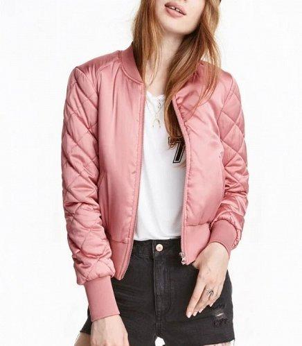 women soft short jacket pink