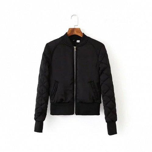 women soft short jacket black