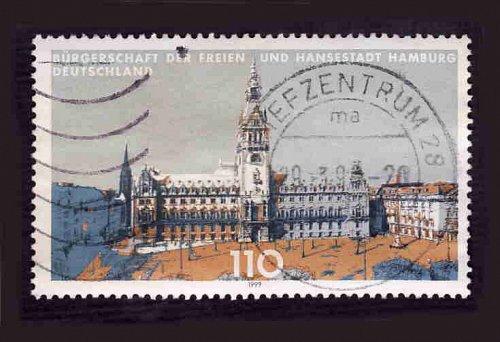 German Used Scott #2029 Catalog Value $.85