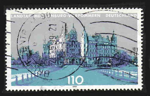 German Used Scott #2030 Catalog Value $.85