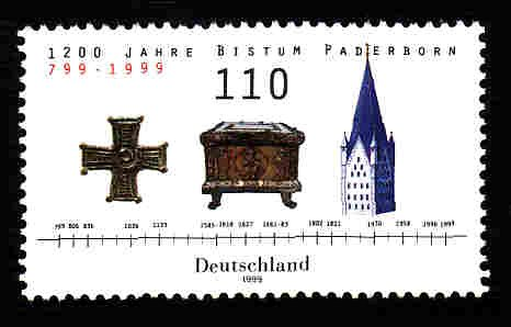 German MNH Scott #2044 Catalog Value $1.30