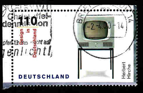 German Used Scott #2051a Catalog Value $1.35