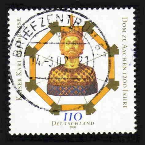German Used Scott #2062 Catalog Value $.85