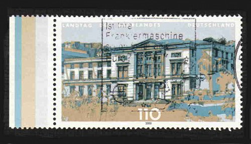 German Used Scott #2077 Catalog Value $.90