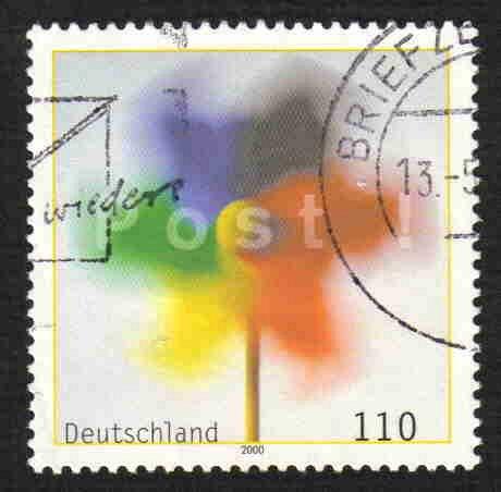 German Used Scott #2078 Catalog Value $1.20
