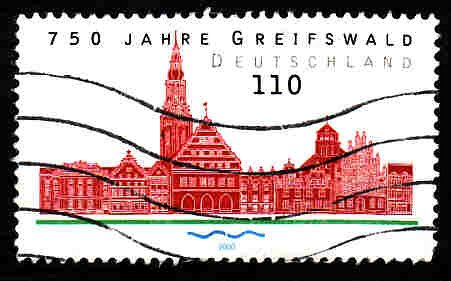 German Used Scott #2084 Catalog Value $.85