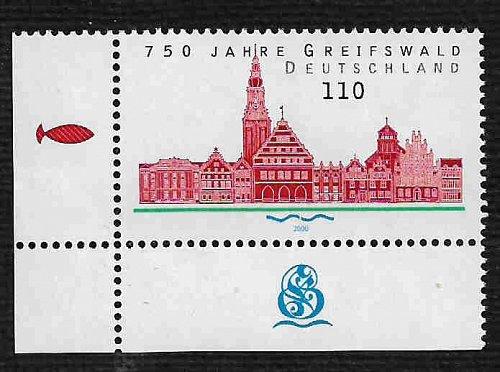 German MNH Scott #2084 Catalog Value $1.30
