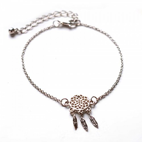 fashion 2pcs gold and silver plated bracelet