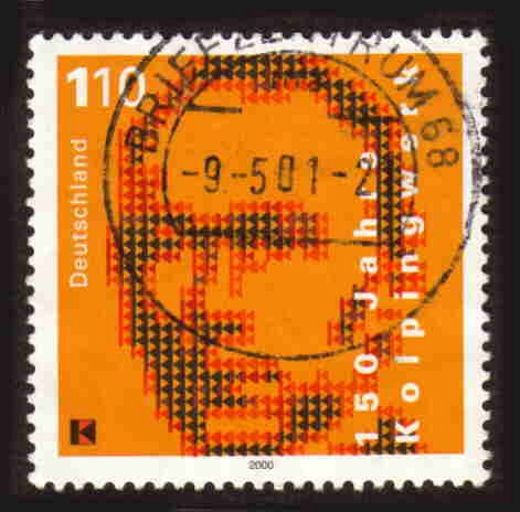 German Used Scott #2099 Catalog Value $.85