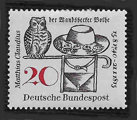 German MNH Scott #917 Catalog Value $.25