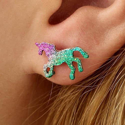 1 pair colorful fashion earring