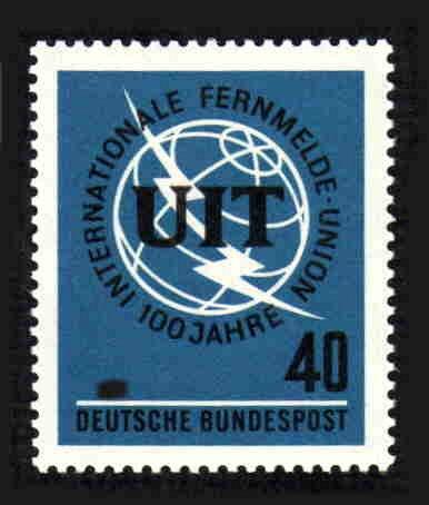 German MNH Scott #927 Catalog Value $.30