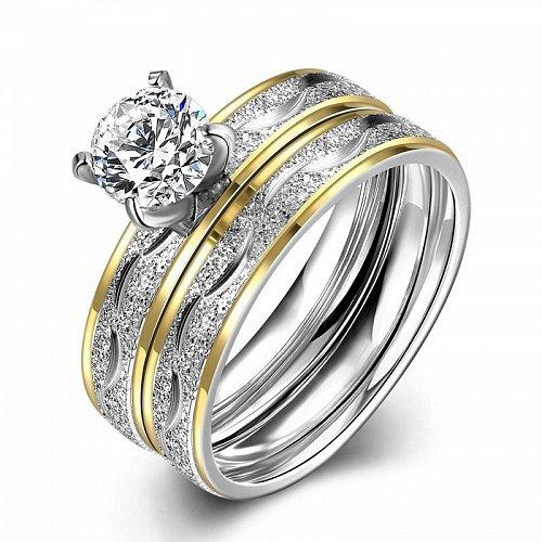 women double fashion wedding rings