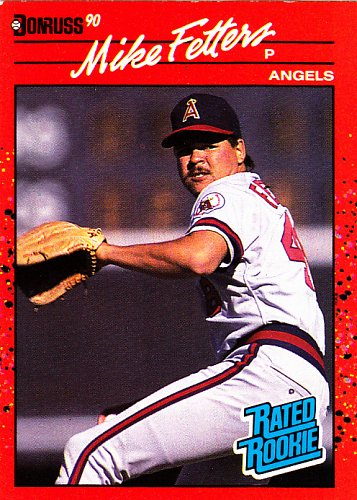 Mike Fetters #35 - Angels 1990 RC Donruss Baseball Trading Card